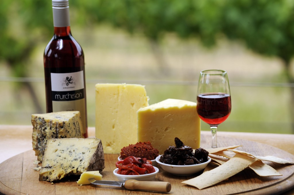 Wine and Cheese Product Shot